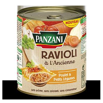 Ravioli à l'Ancienne Poulet et Petits légumes